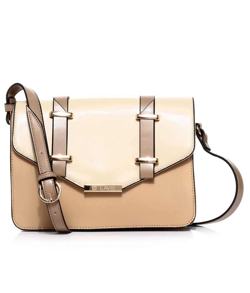 Lavie L04110997020 Beige Sling Bag - Buy Lavie L04110997020 Beige ...
