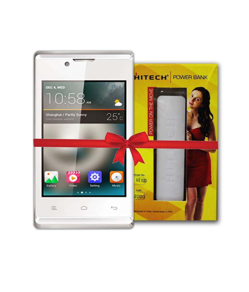 Hitech Amaze 305 With Free Powerbank White