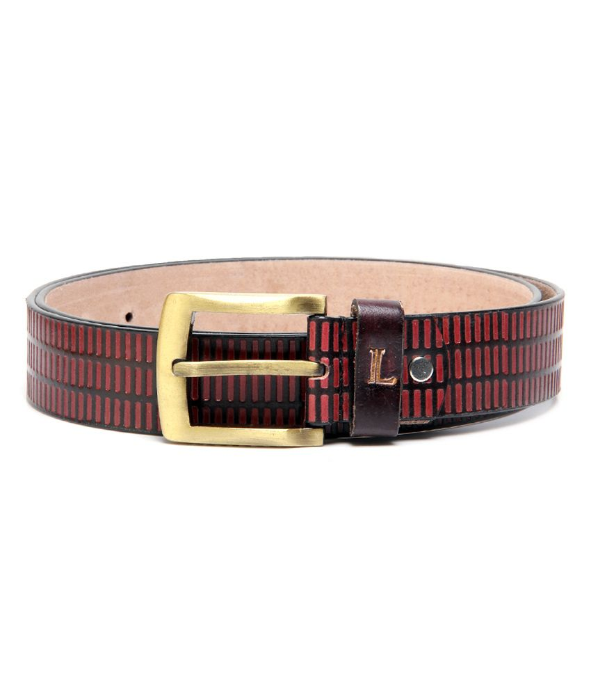 Ligans NY Red Casual Single Belt ForMen