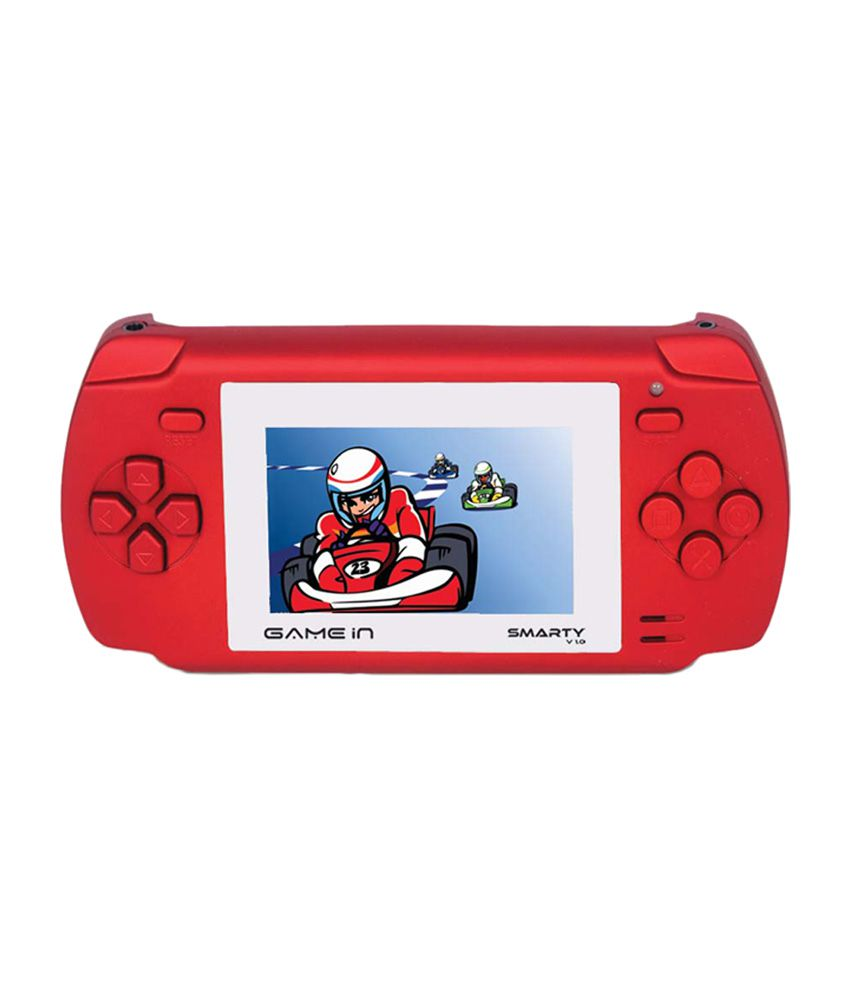 Mitashi Game In Smarty v.01 Handheld Gaming Console With 300 In Built Game-Red
