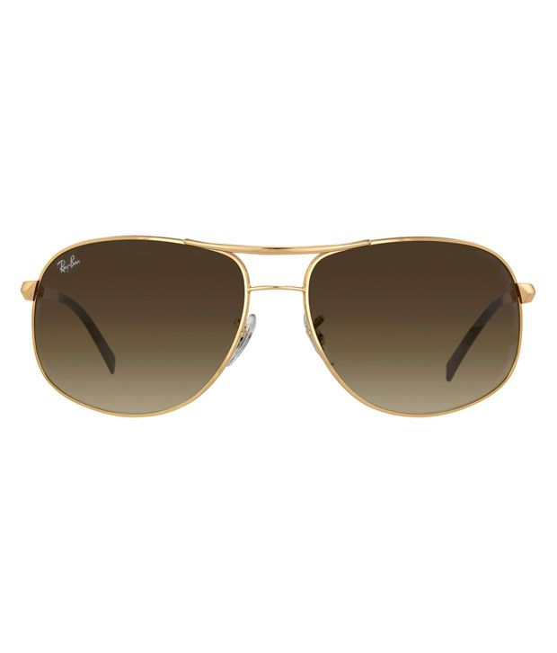 ray ban 3387 czlu  Ray-Ban Brown Aviator Sunglasses RB3387 001/13 64-14