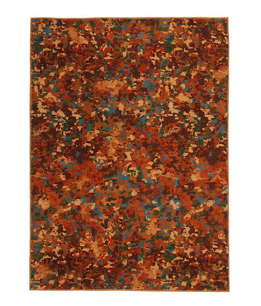 Riva Carpets Brown Amp Orange Abstract Forest Area Rug