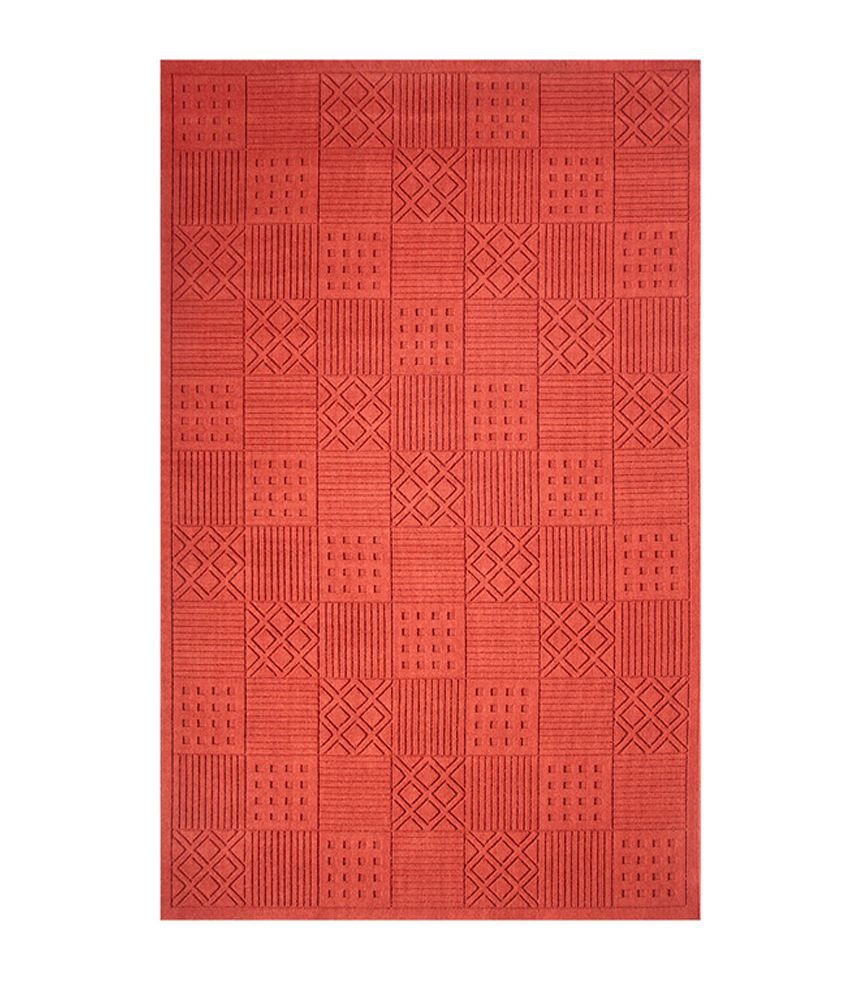 Riva carpets red geometrical modelama area rug large for Large red area rugs