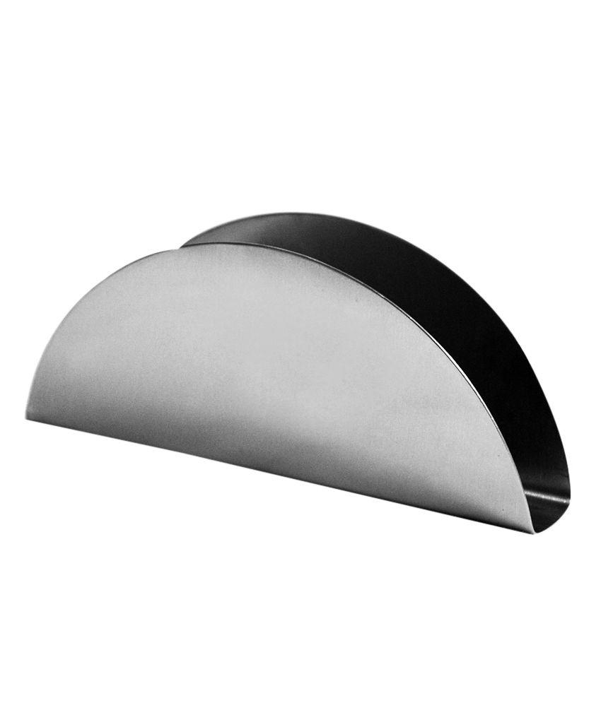 bhansali half moon stainless steel napkin holderset of  buy  - bhansali half moon stainless steel napkin holderset of