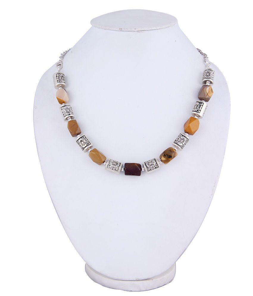 Pearlz Ocean Miss Vivacious 18 Inches Mookaite Beads Necklace