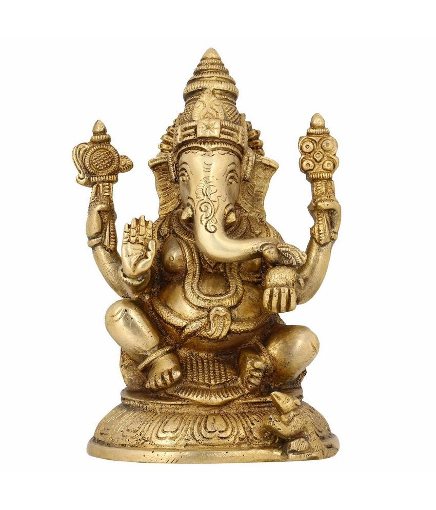 Shalinindia Hindu God Statues Ganesh Indian Religious Home