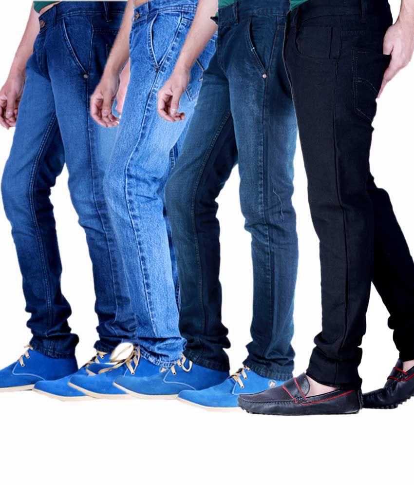 Kaasan Classic Pack of 4 Men's   Jeans Combo