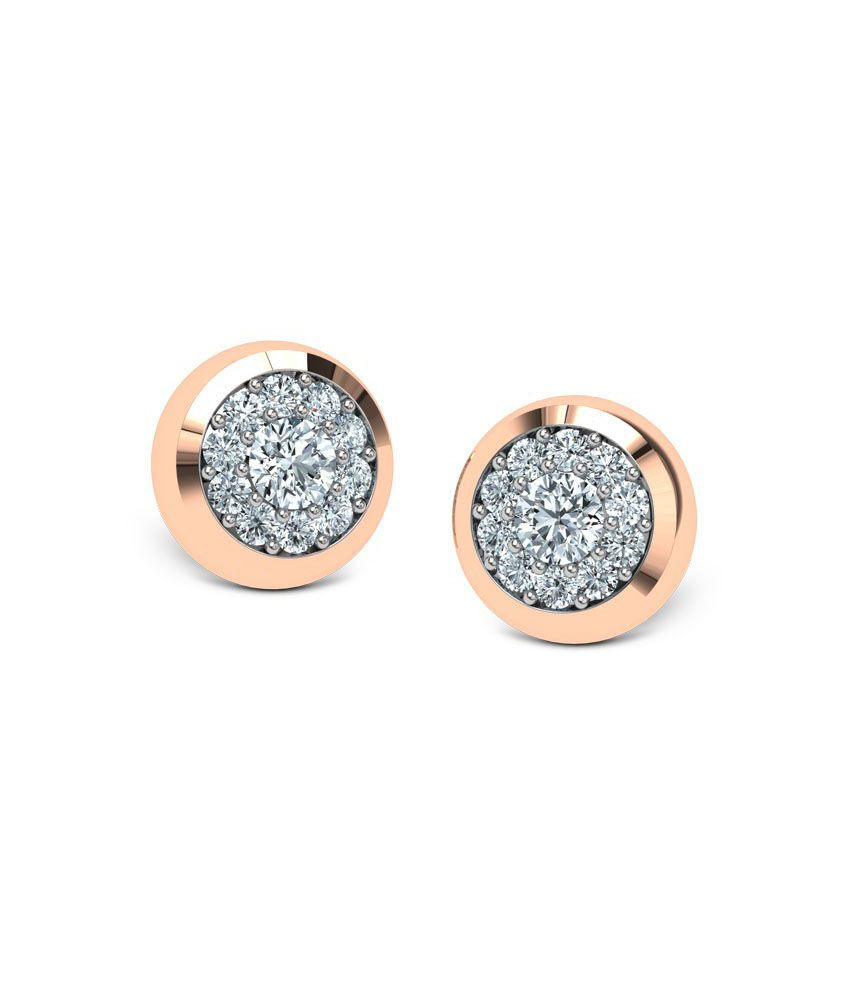 Jewel Berry Circle Of Trust Ii Earrings - Hallmark 18kt Gold With Certified Si/ij Diamonds