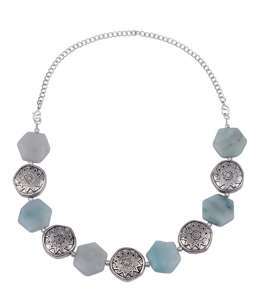 Pearlz Ocean Masquerade 18 Inches Amazonite Beads Necklace