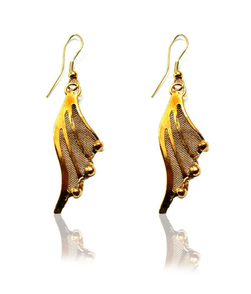 Beingwomen Gold Dangle Earring