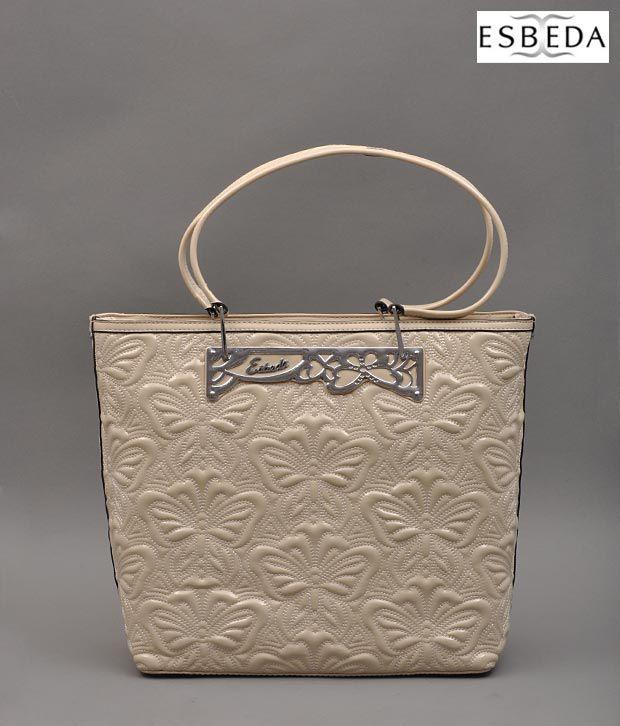 Esbeda Beige Butterfly Handbag