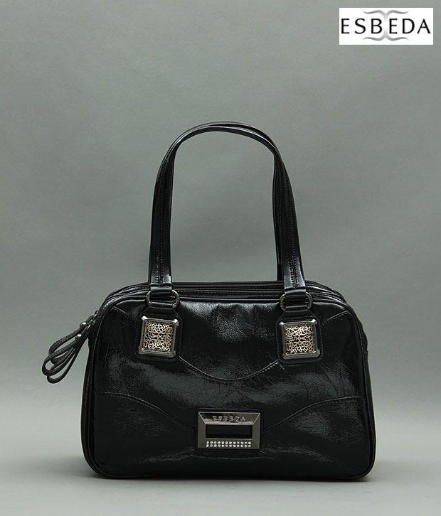 Esbeda Classic Black Handbag