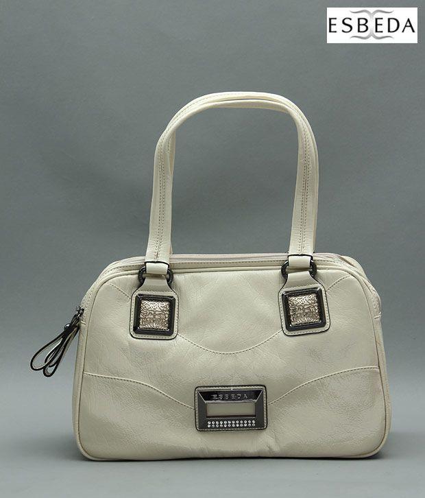 Esbeda Classic White Handbag