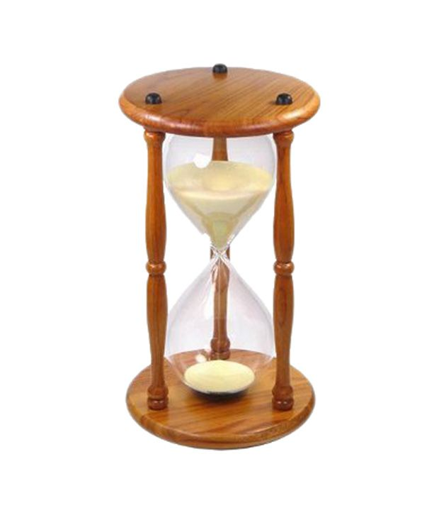Lilys Home Brown And Clear Wood And Gl60 Minute Sand Timer Buy Lilys Home Brown And Clear Wood And Gl60 Minute Sand Timer Online At Low Price