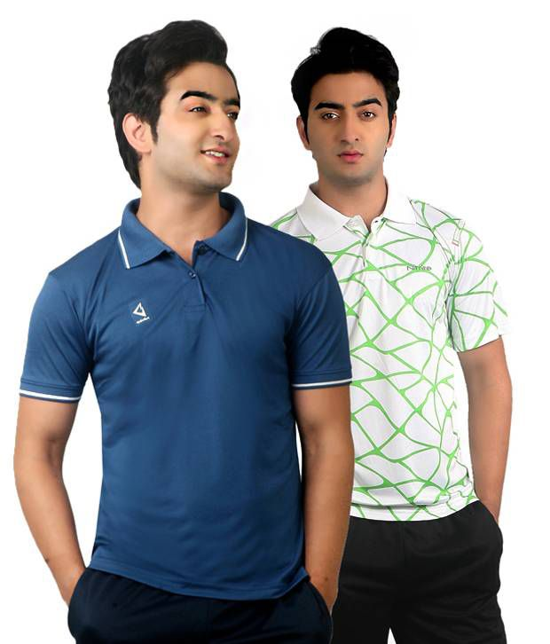 Nitrite Multi  Polo T-Shirt(Combo of 2)