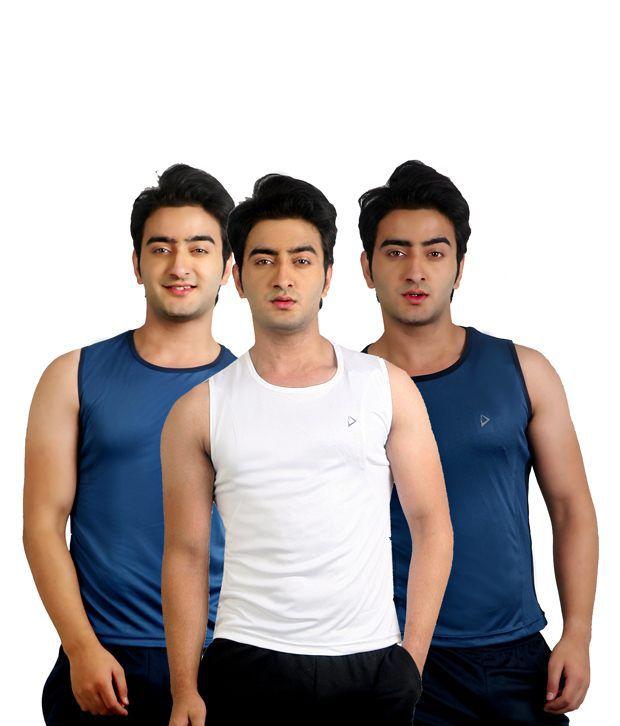 Nitrite Multi Polyester  T-Shirt(Combo of 3)