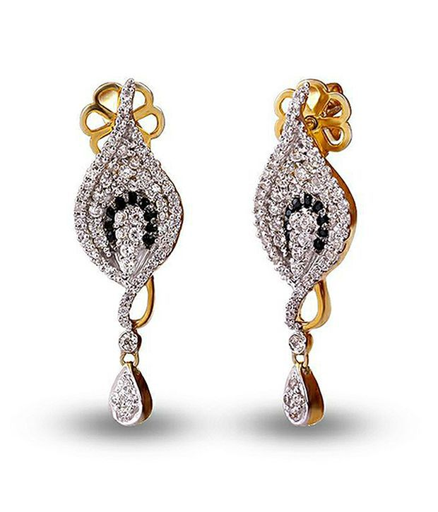 Shashvat Jewels 14kt Gold Drop Earrings