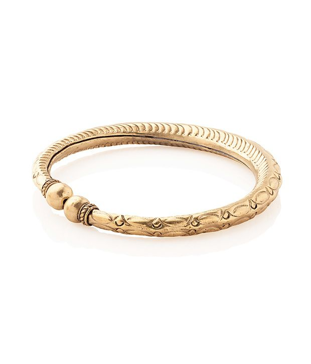 Voylla Gold Plated Anklet Crafted With Swirled Patterns