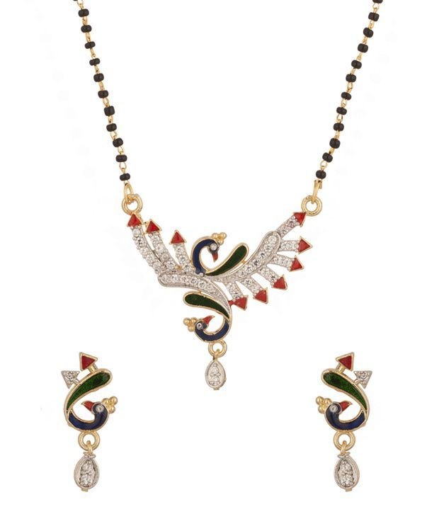 Voylla Single Chain Mangalsutra With Peacock Motif