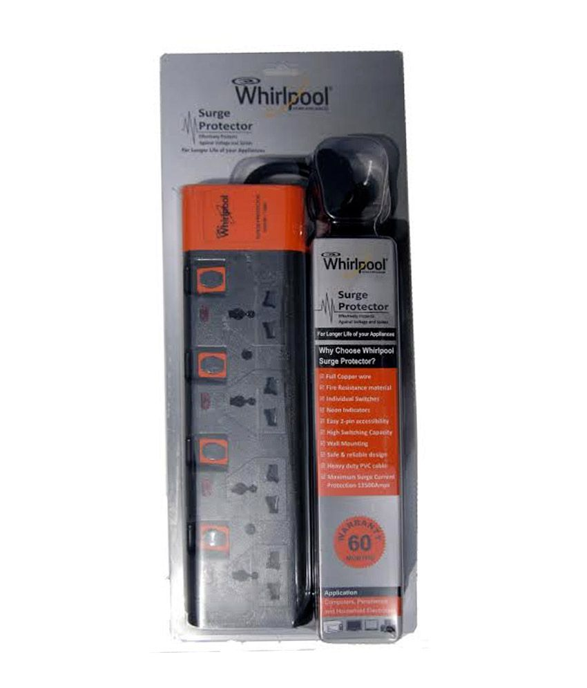 whirlpool s surge protector with 4 sockets price in india buy rh snapdeal com