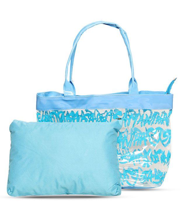 1 Bolzo Modest Blue Tote Bag & Pouch Set
