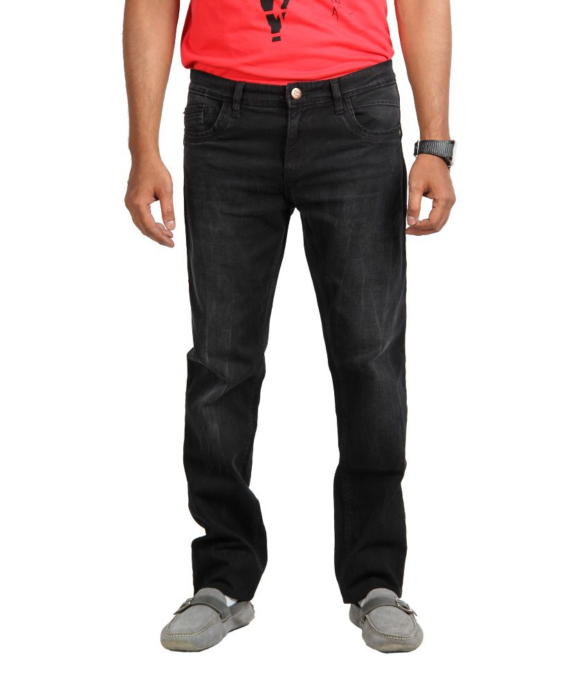 American Vintage Faded Jeans - Narrow Fit - Black Colour