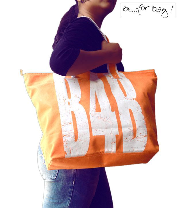 B4Bag Orange & White Tote Bag