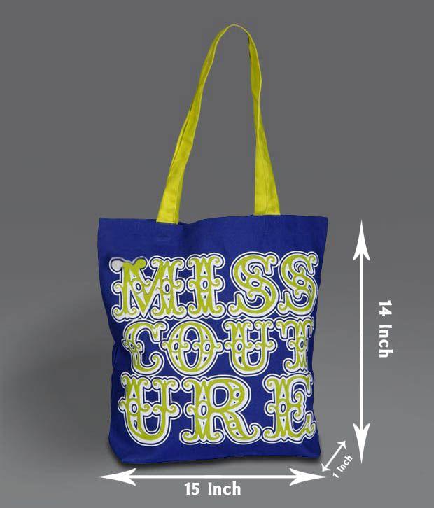 B4Bag Royal Blue Couture Canvas Bag