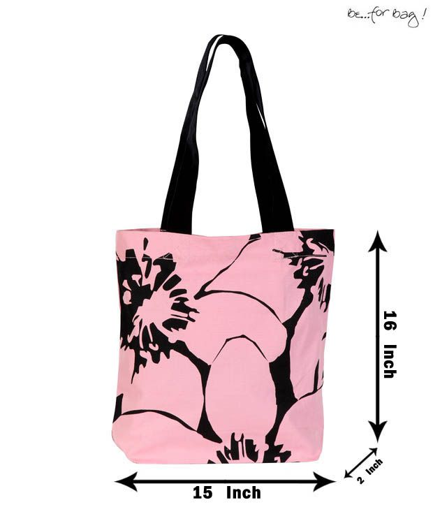Be For Bag Cool Pink Floral Print Handbag