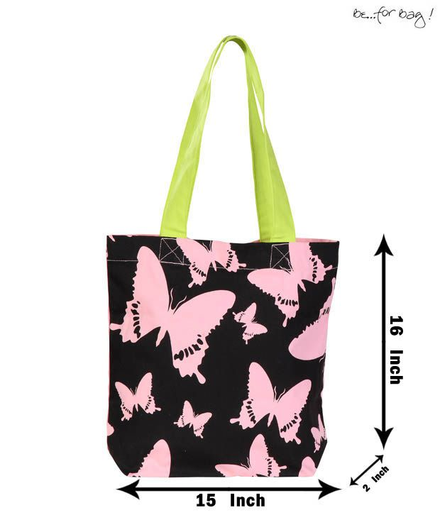 Be For Bag Vibrant Butterfly Print Handbag