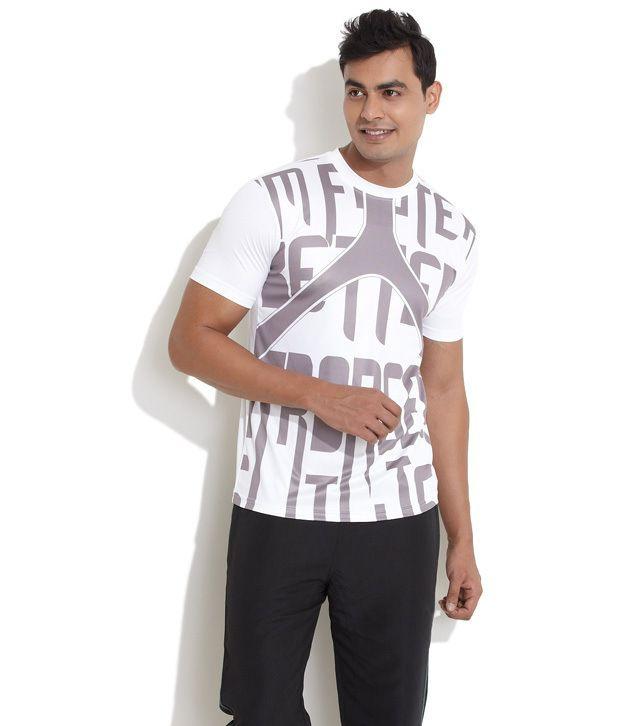 Edge White Polyester  T-Shirt