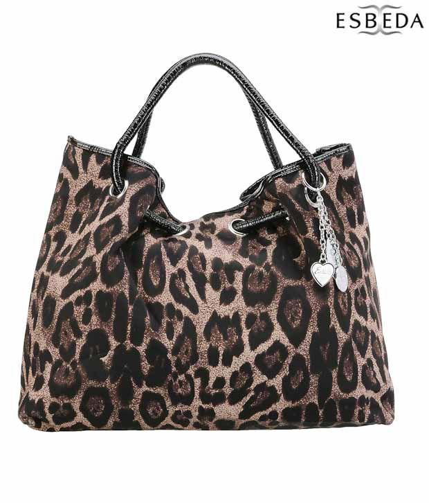 Esbeda Smart Brown Leopard Print Handbag