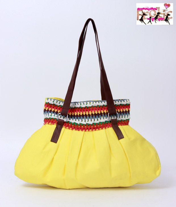 Frolic Yellow Crochet Bonnie Bag