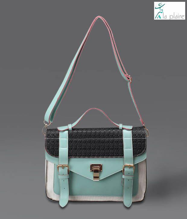 La Plaire Pastel Green Sling Bag