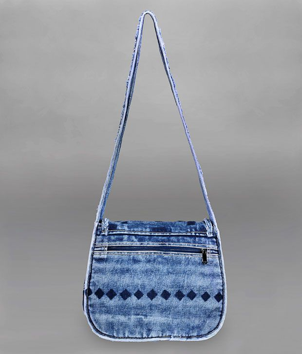 President Denim Blue Sling Bag - Buy President Denim Blue Sling ...