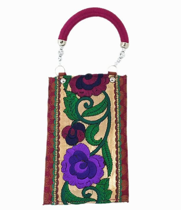 Red Flower Mobile Pouch