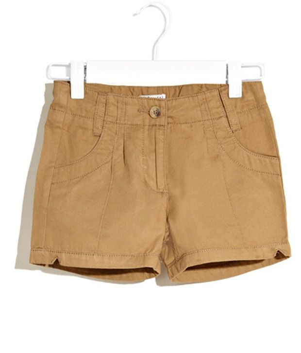 Scullers Kids Natural Summer Camp Cotton Shorts For Girls