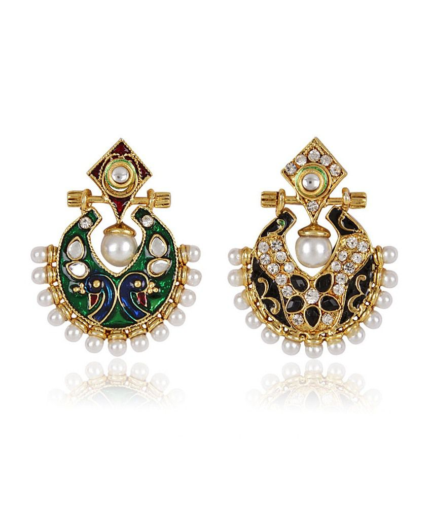 faca36a4a Shining Diva Two In One Exclusive Reversible Earrings - Buy Shining Diva  Two In One Exclusive Reversible Earrings Online at Best Prices in India on  Snapdeal