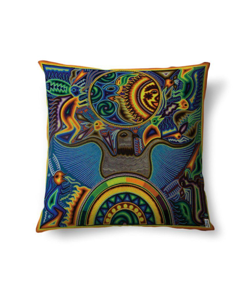 bluegape Abstract Eagle Design Digitally Printed Cushion Cover 1 Piece