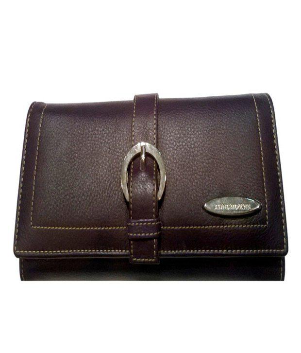 Longhorns Purple Ladies A136 Leather Wallet