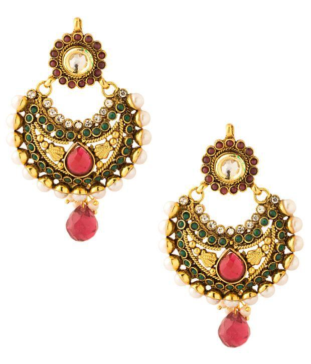 Voylla Multi-Coloured Dangler Earring