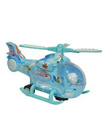 Imported By Nyrwana Musical Helicopter With Led Lights On Wings, Bump And Go Action