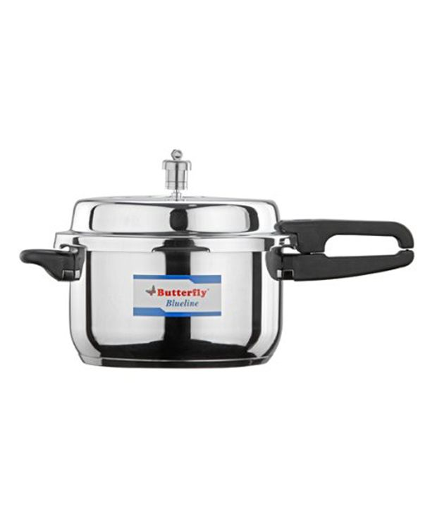 Butterfly Blue Line Stainless Steel 5 L Pressure Cooker (Induction Based, Outer Lid)