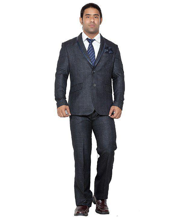 Canary London Black Cotton Blend Suit Lengths