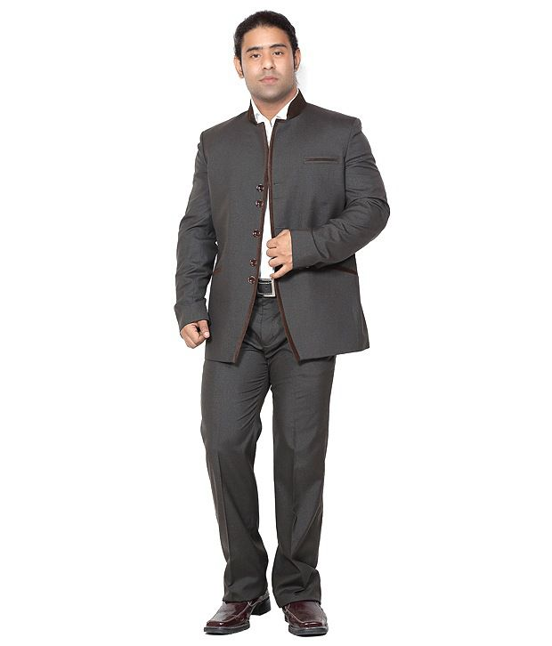 Canary London Gray Cotton Blend Suit Lengths