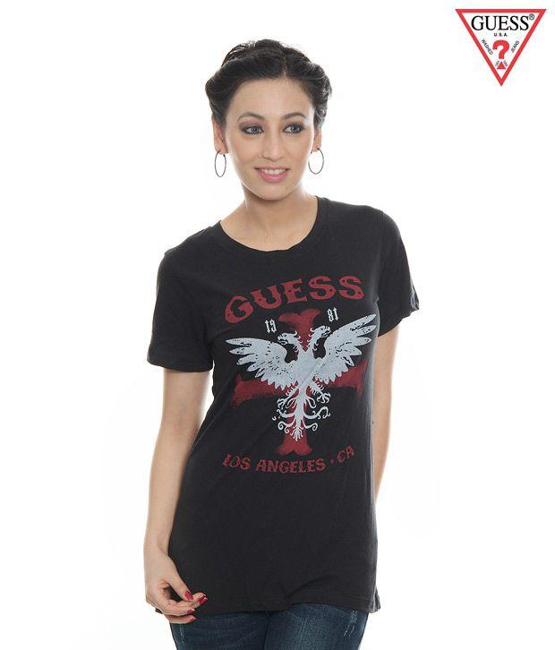 Guess Black T-Shirt-Gu-Blk-LA