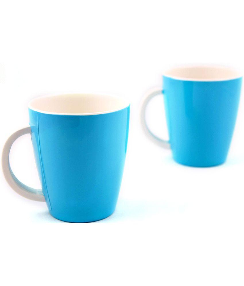 Hi Luxe Unbreakable Blue Melamine Coffee Mugs 2 Pcs