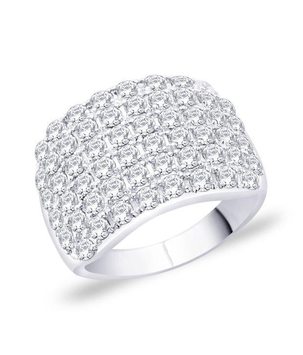 Peora Silver Men's Bling Ring PR3090