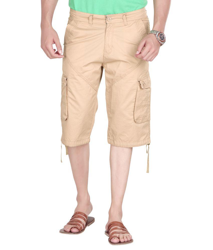 sports 52 wear cargo 3 4 pants beige buy sports 52 wear cargo 3 4 pants beige online at low. Black Bedroom Furniture Sets. Home Design Ideas