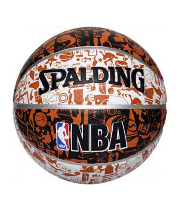 Spalding NBA Graffiti Black/Brown/White Size 7 - Buy ...